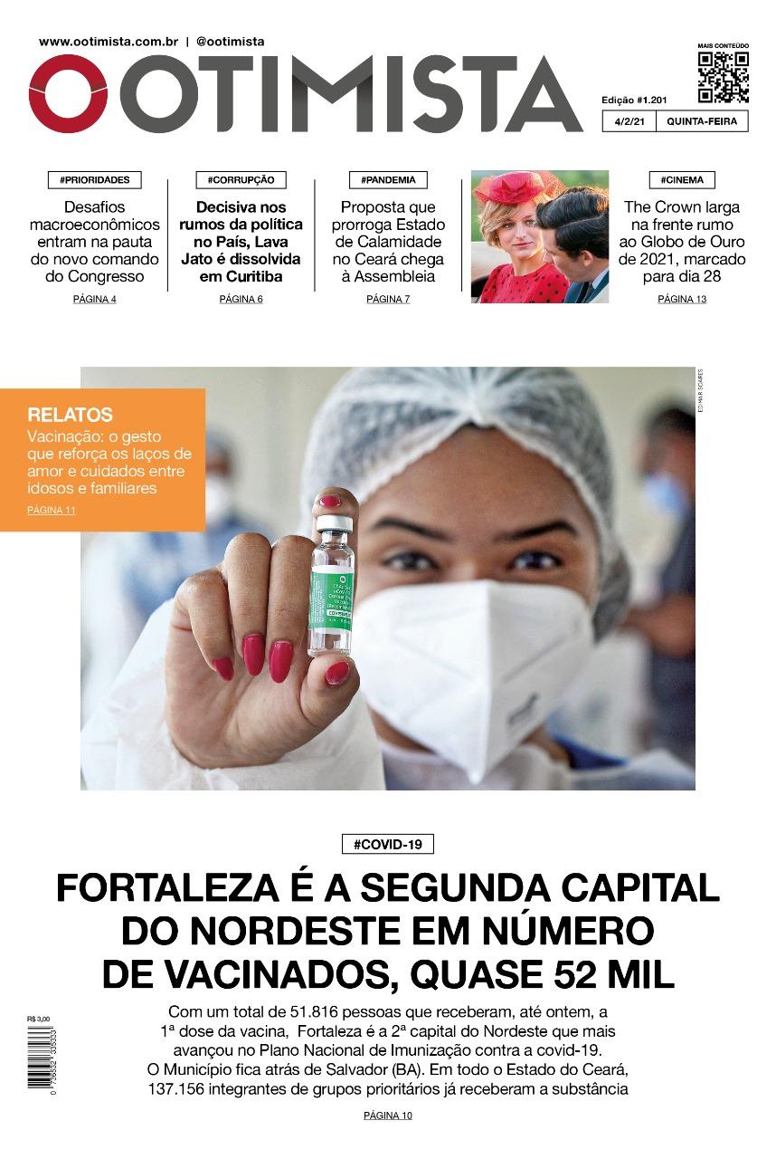 O Otimista - Edição impressa de 04/02/2021