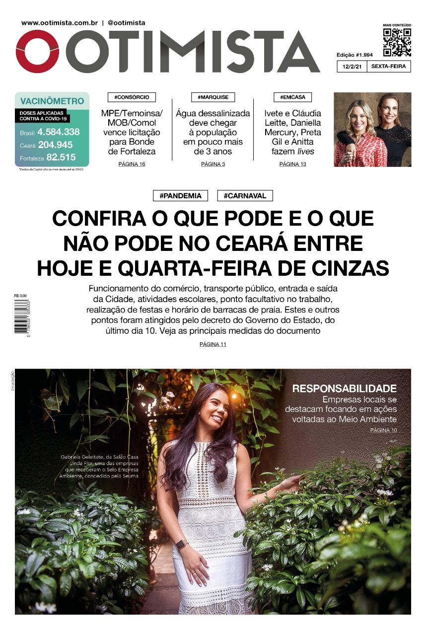 O Otimista - Edição impressa de 12/02/2021