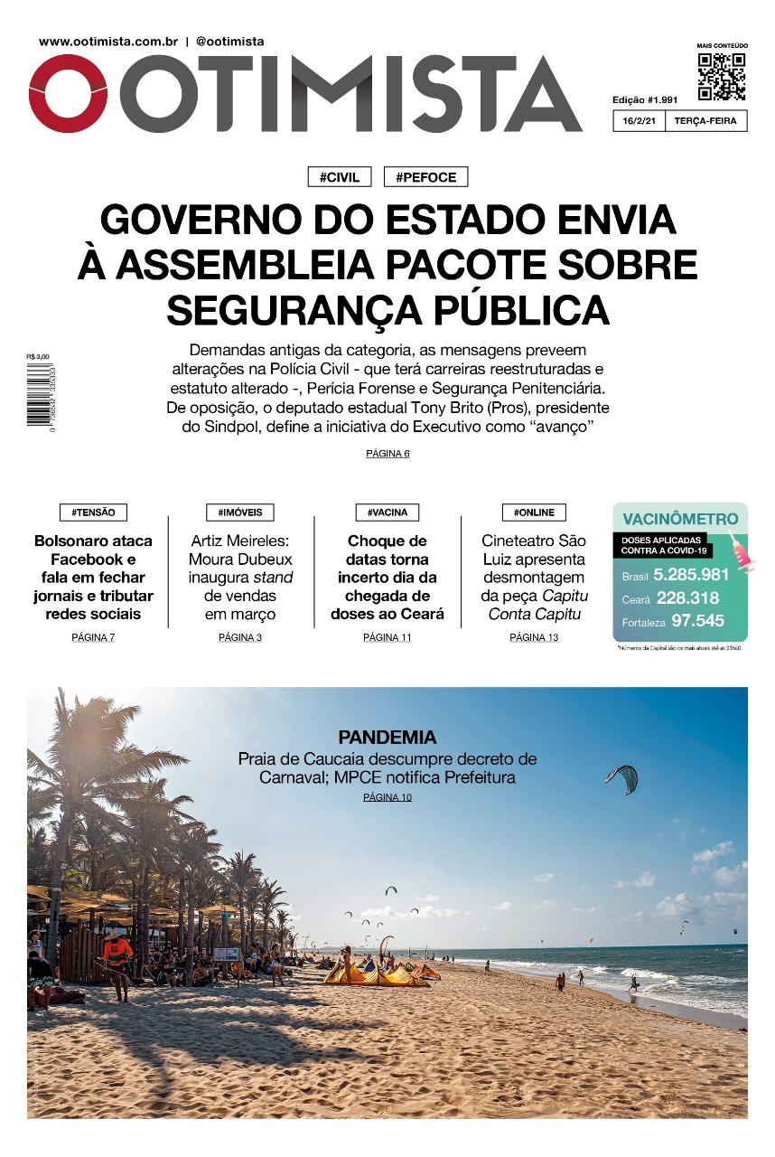 O Otimista - Edição impressa de 16/02/2021