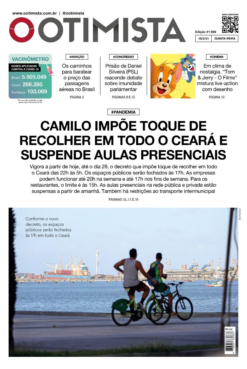 O Otimista - Edição impressa de 18/02/2021