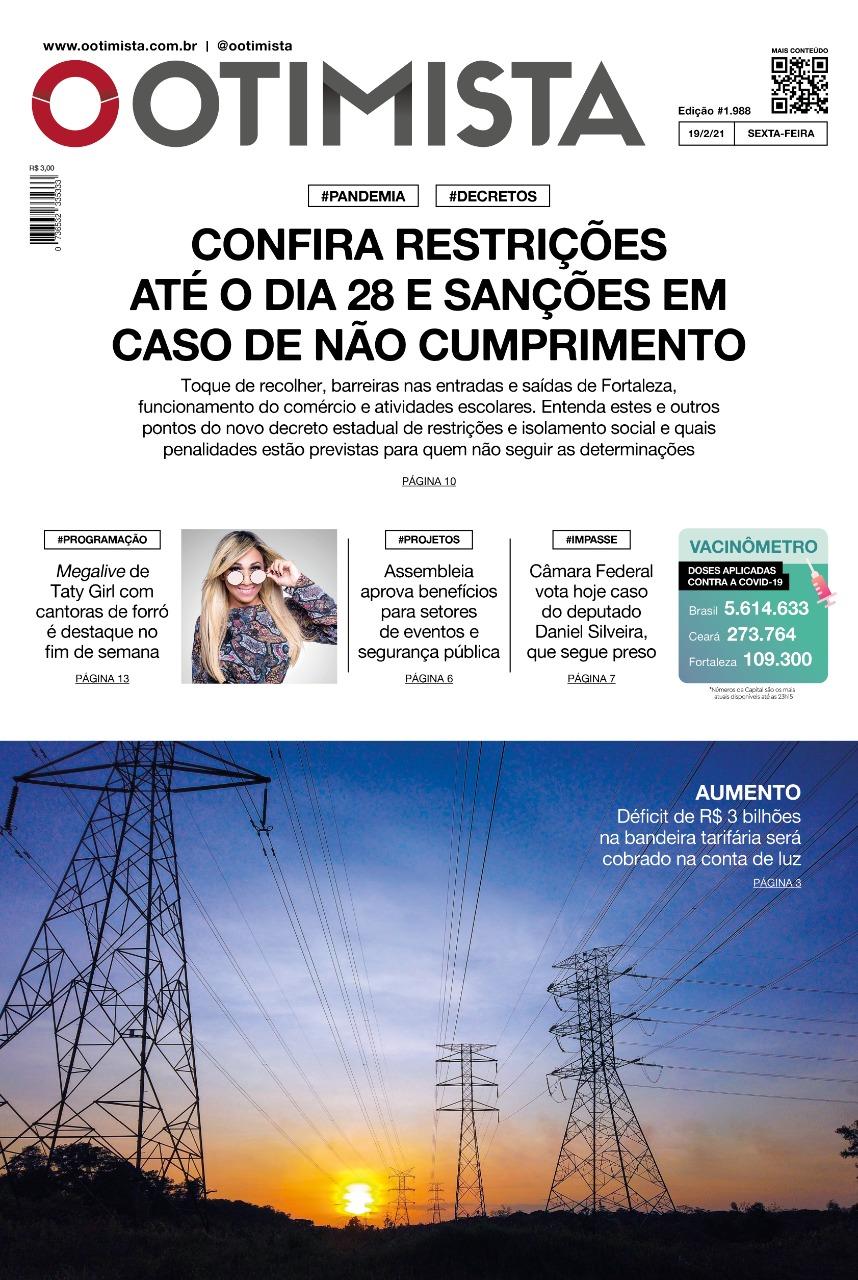 O Otimista - Edição impressa de 19/02/2021