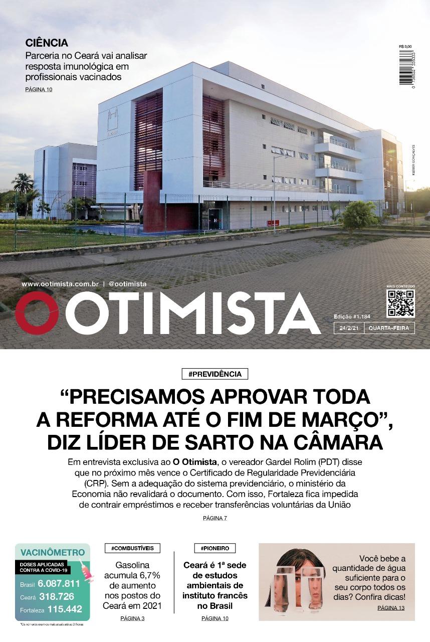 O Otimista - Edição impressa de 24/02/2021