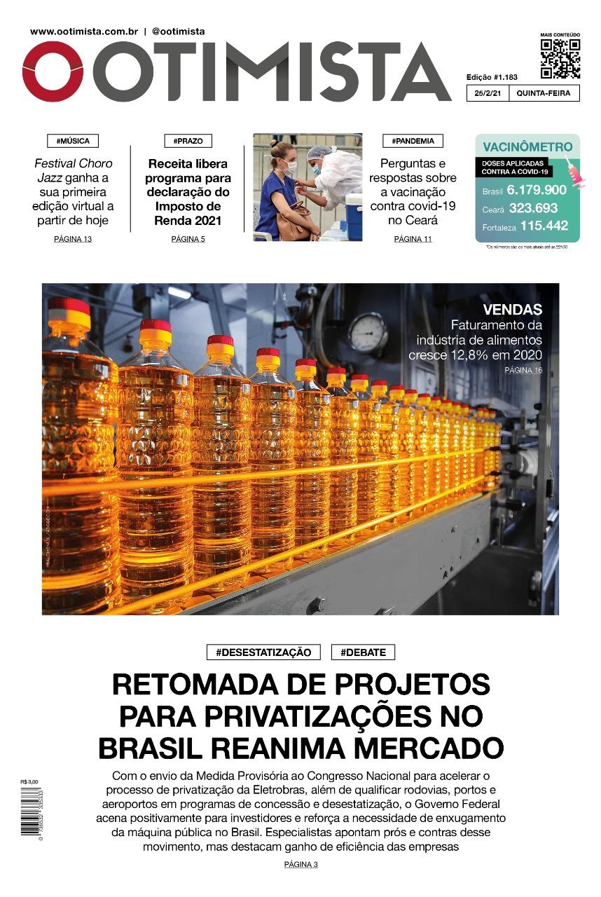 O Otimista - Edição impressa de 25/02/2021