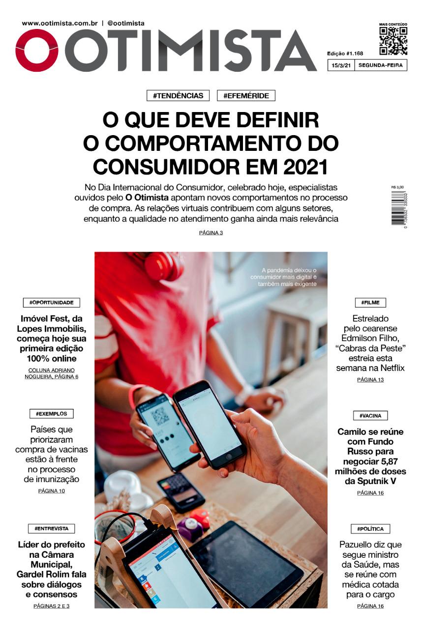 O Otimista - edição impressa de 15/3/2021