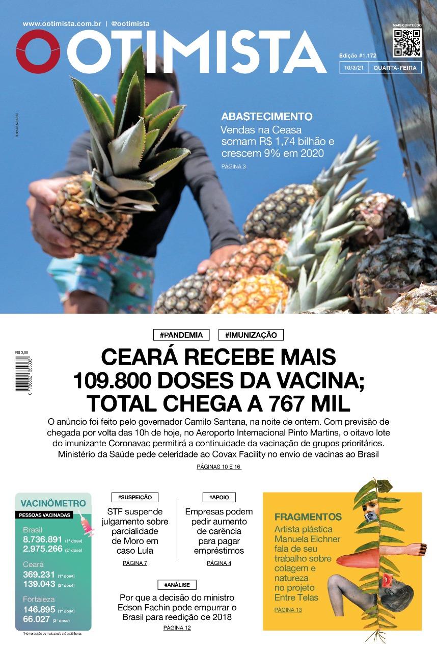 O Otimista - edição impressa de 10/3/2021