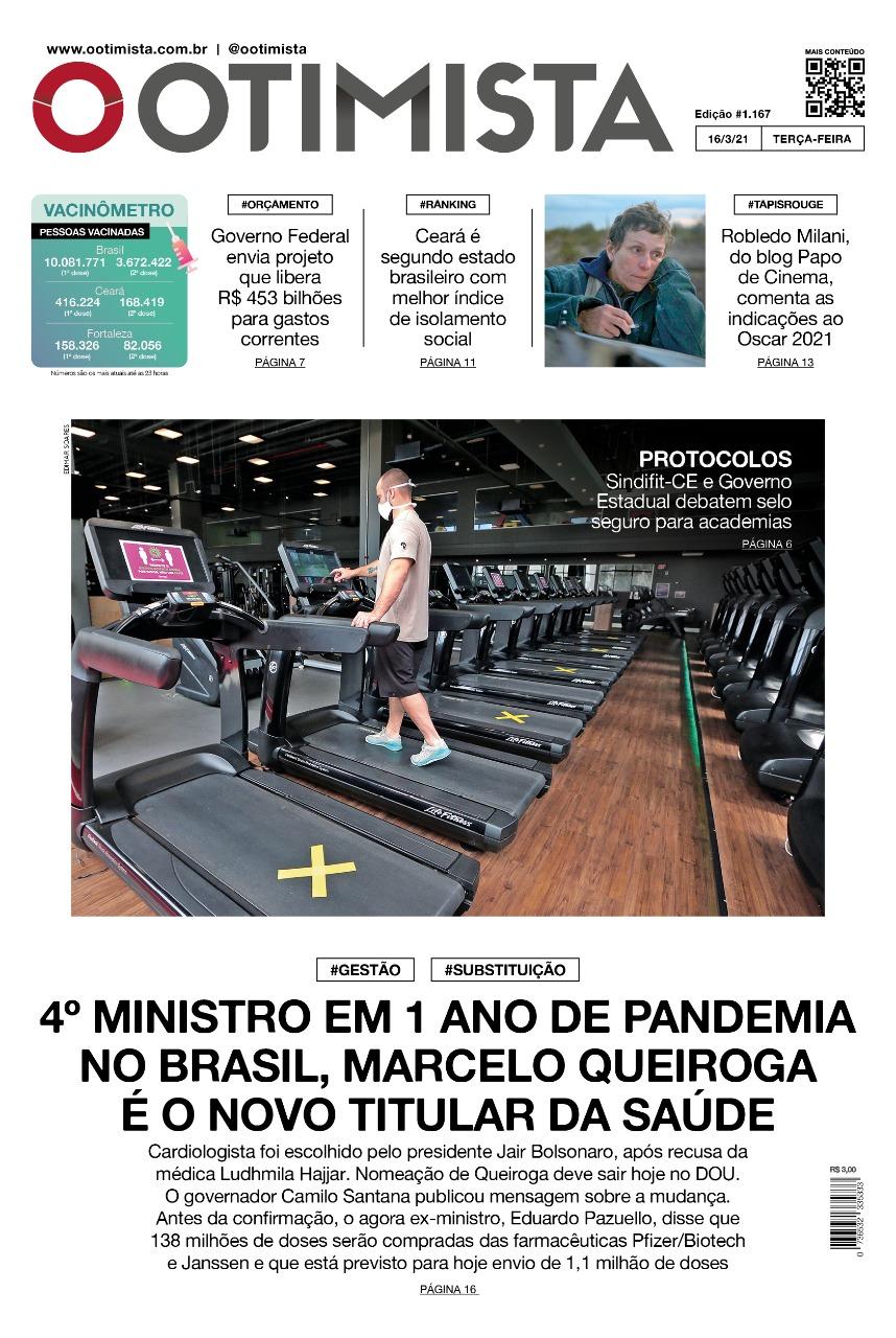 O Otimista - Edição impressa de 16/03/2021