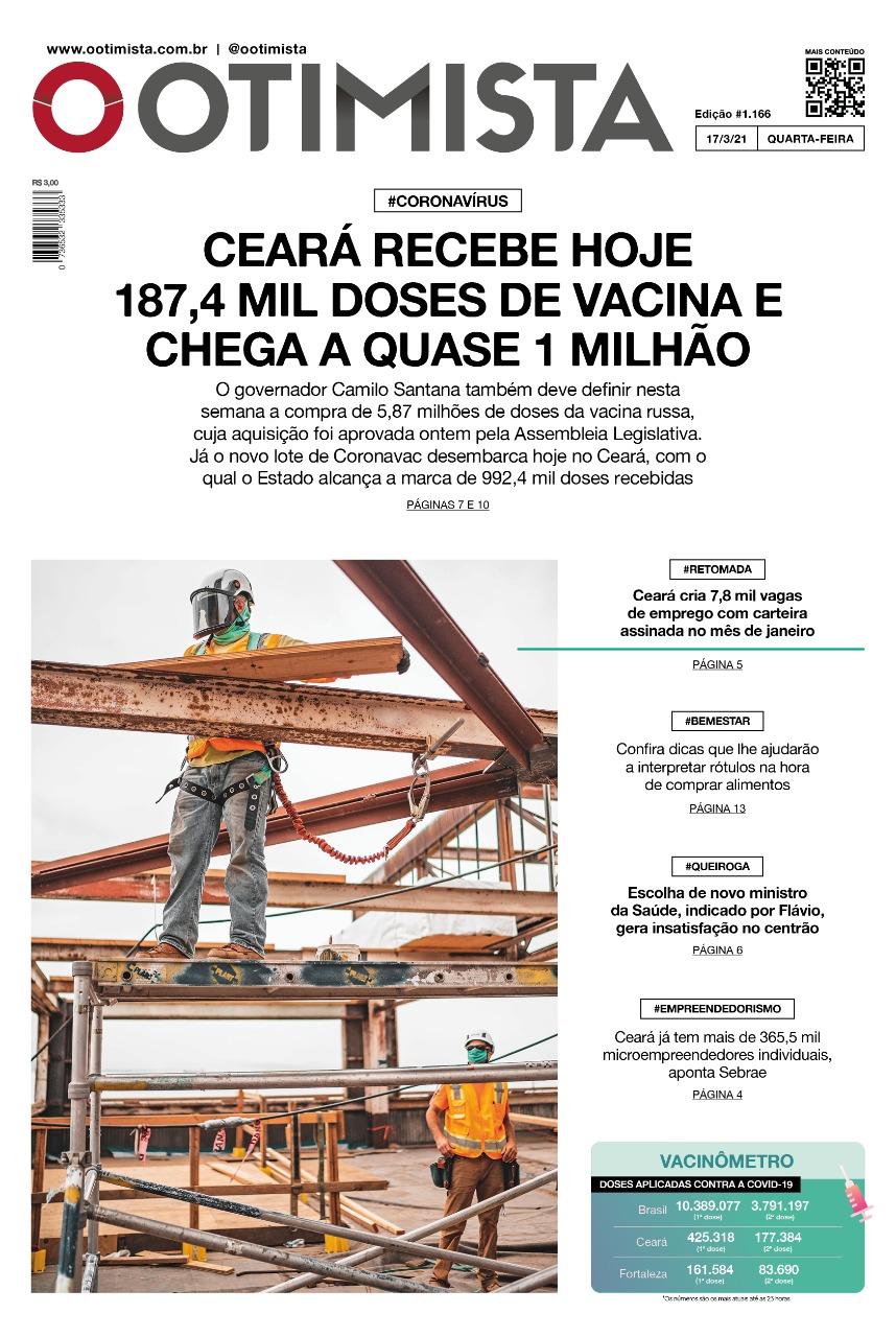 O Otimista - Edição impressa de 17/03/2021
