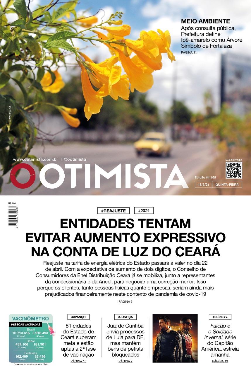 O Otimista - Edição impressa de 18/03/2021