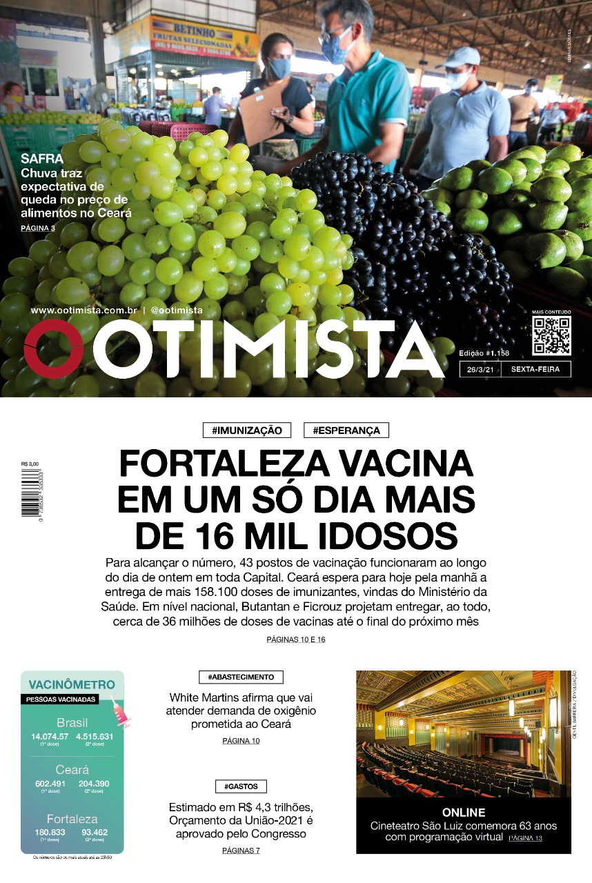 O Otimista - Edição impressa de 26/03/2021