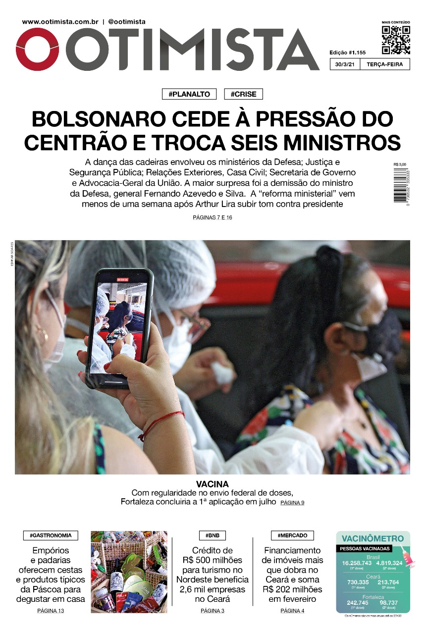 O Otimista - Edição impressa de 30/03/2021
