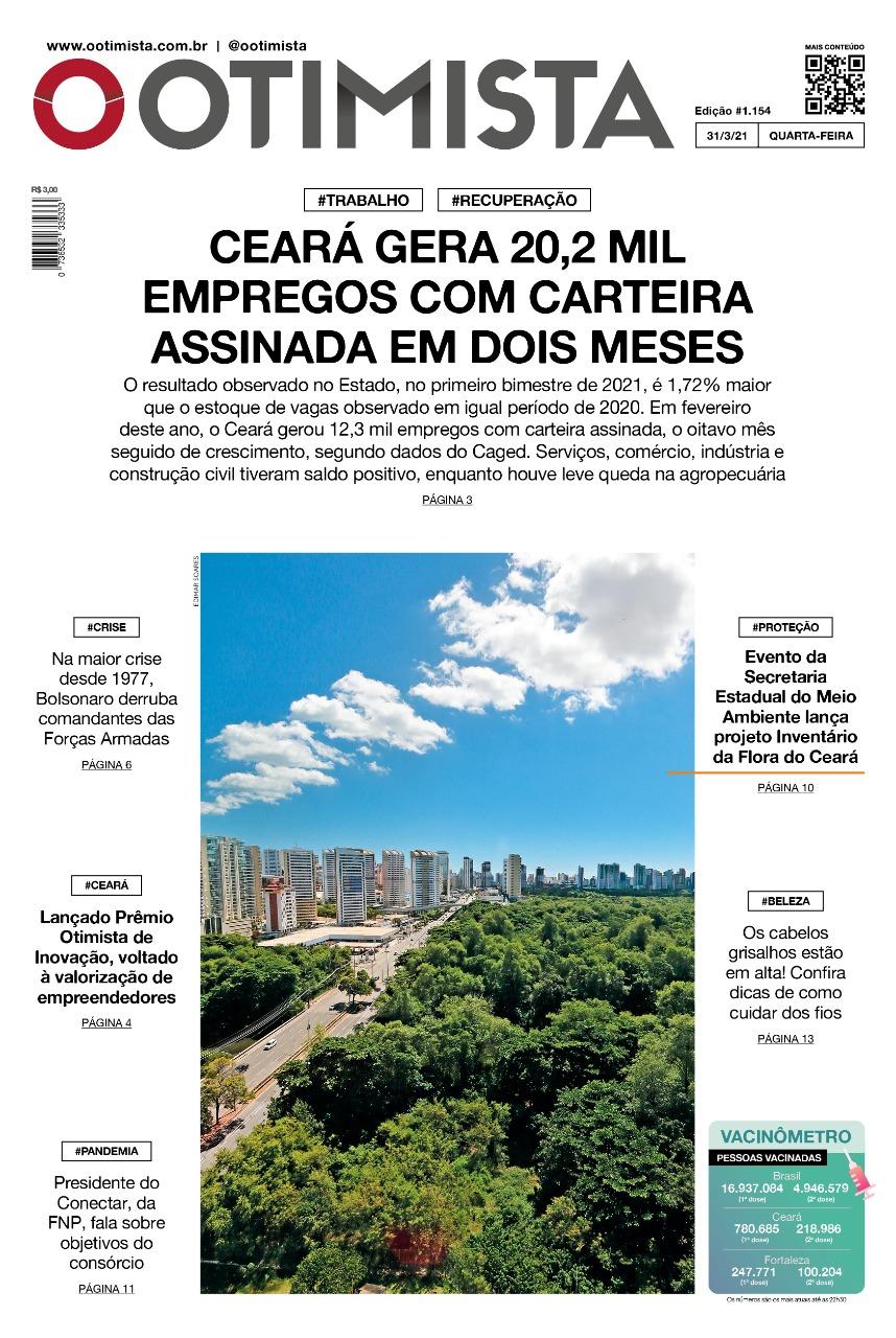 O Otimista - Edição impressa de 31/03/2021