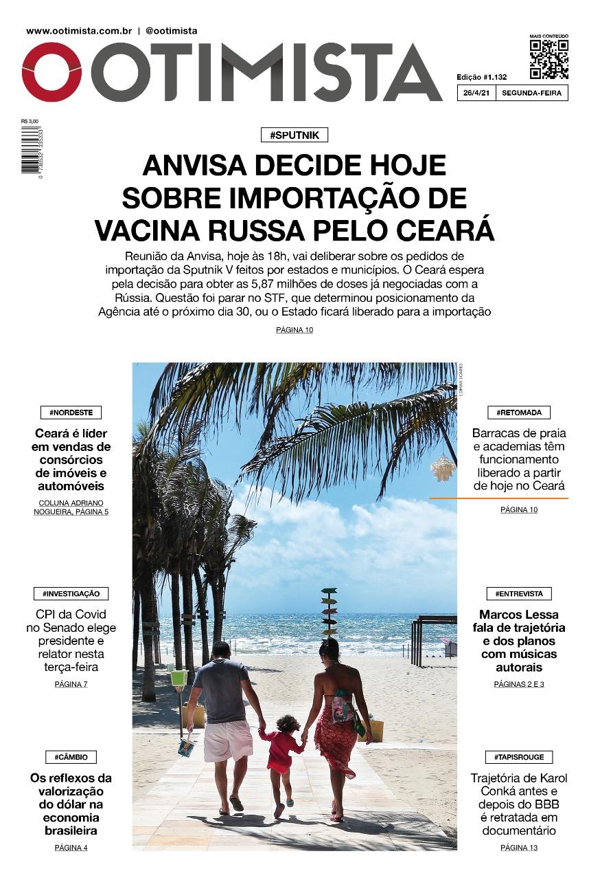 O Otimista - Edição impressa de 26/4/2021