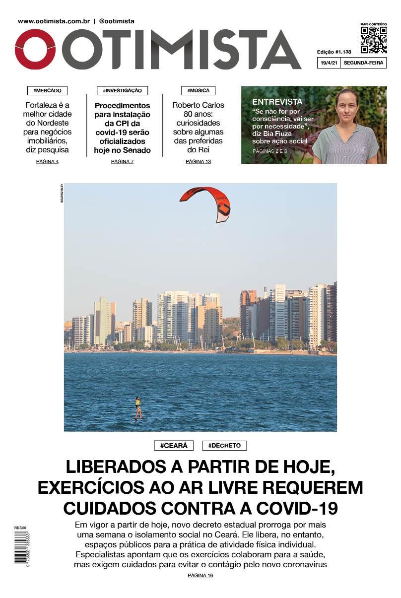 O Otimista - edição impressa de 19/4/2021