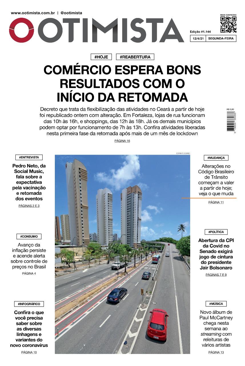 O Otimista - edição impressa de 12/04/2021