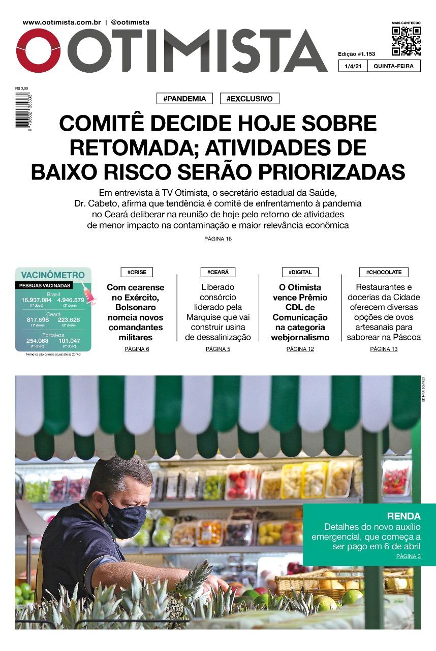 O Otimista - Edição impressa de 01/04/2021