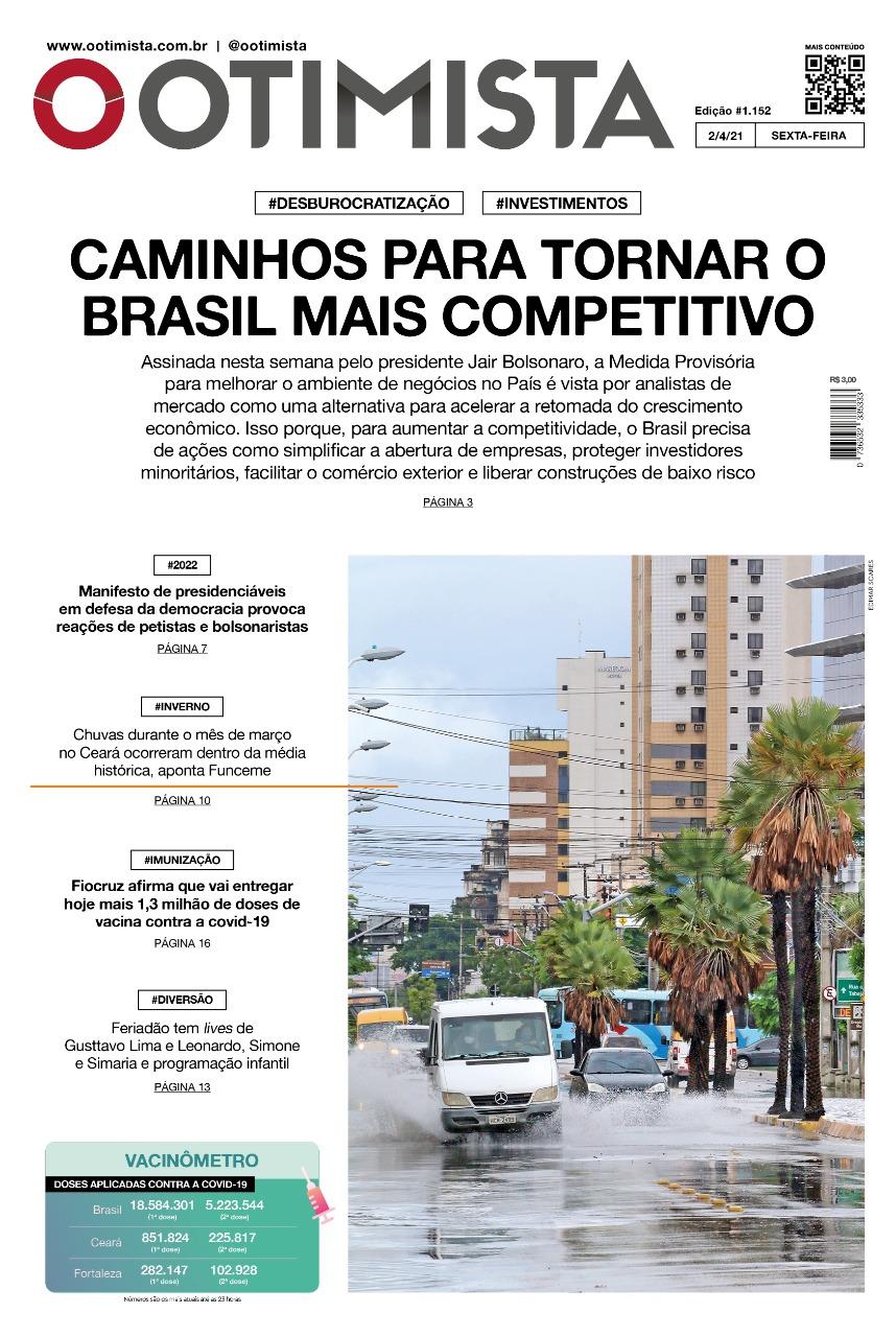O Otimista - Edição impressa de 02/04/2021