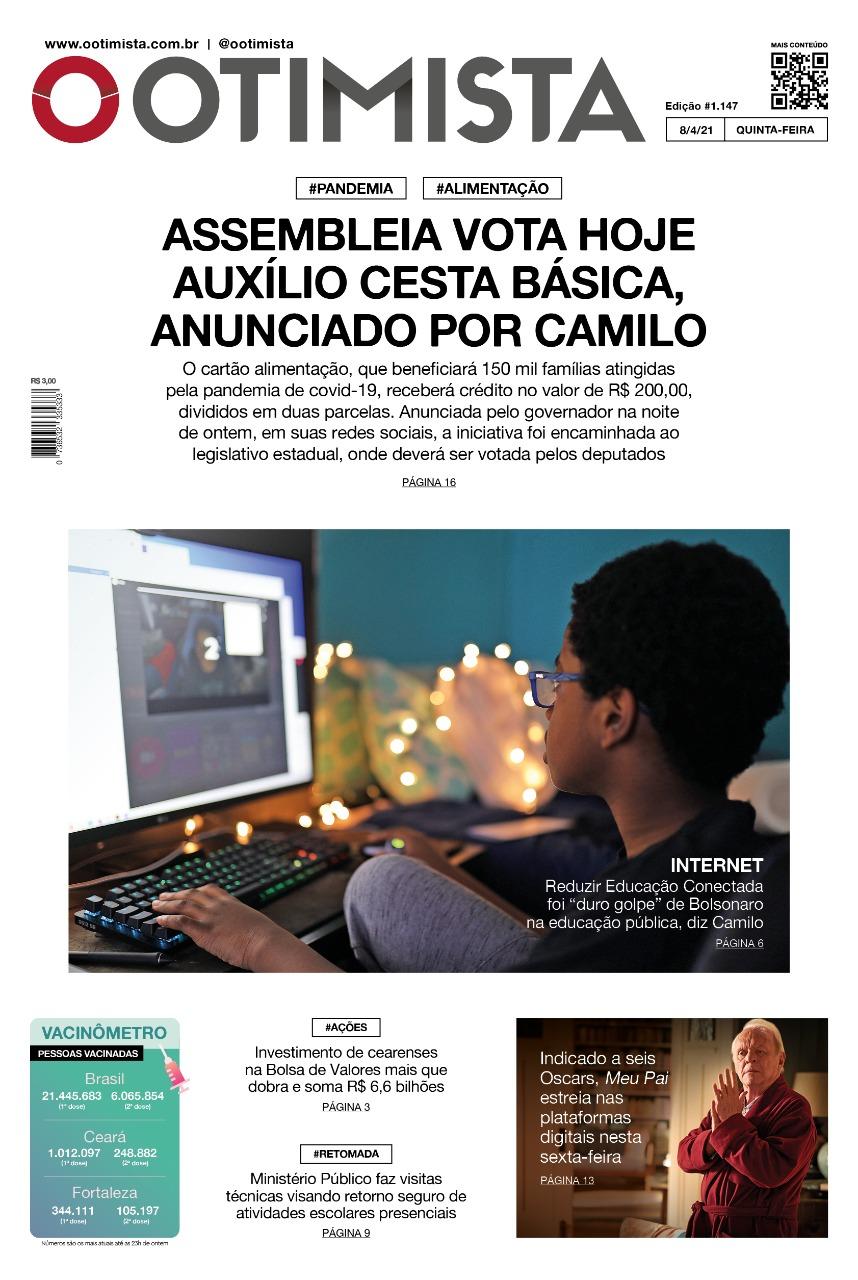 O Otimista - Edição impressa de 08/04/2021