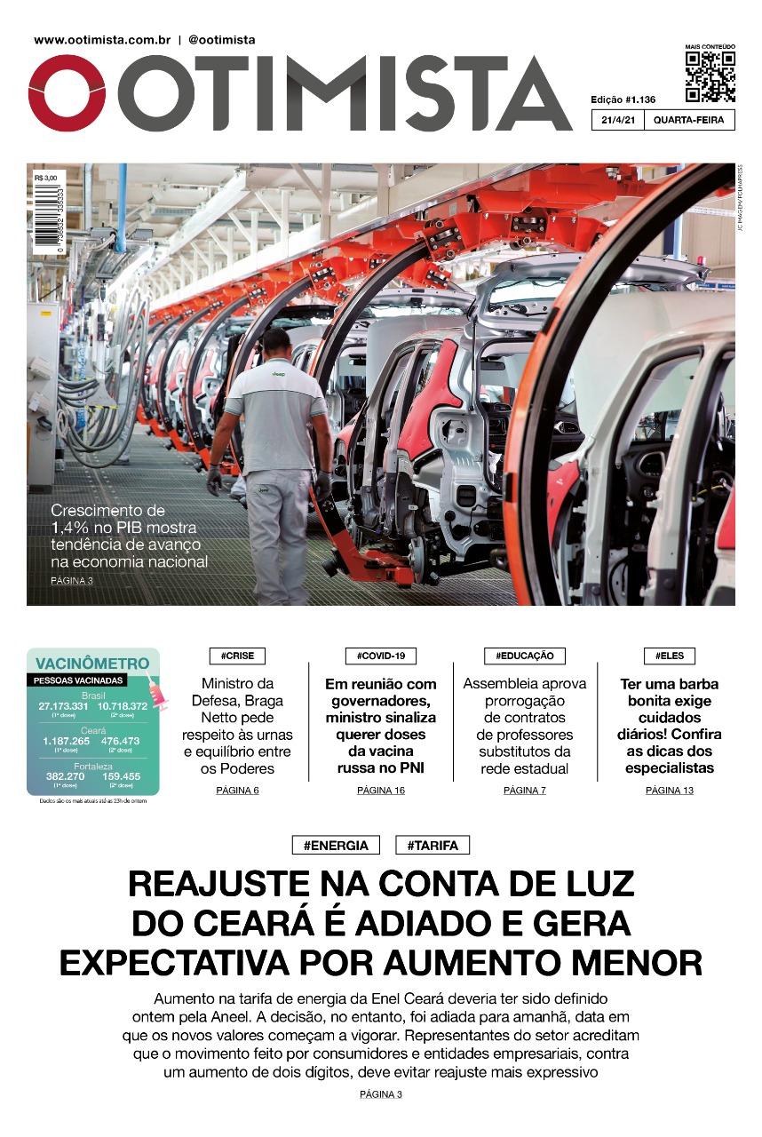 O Otimista - Edição impressa de 21/04/2021
