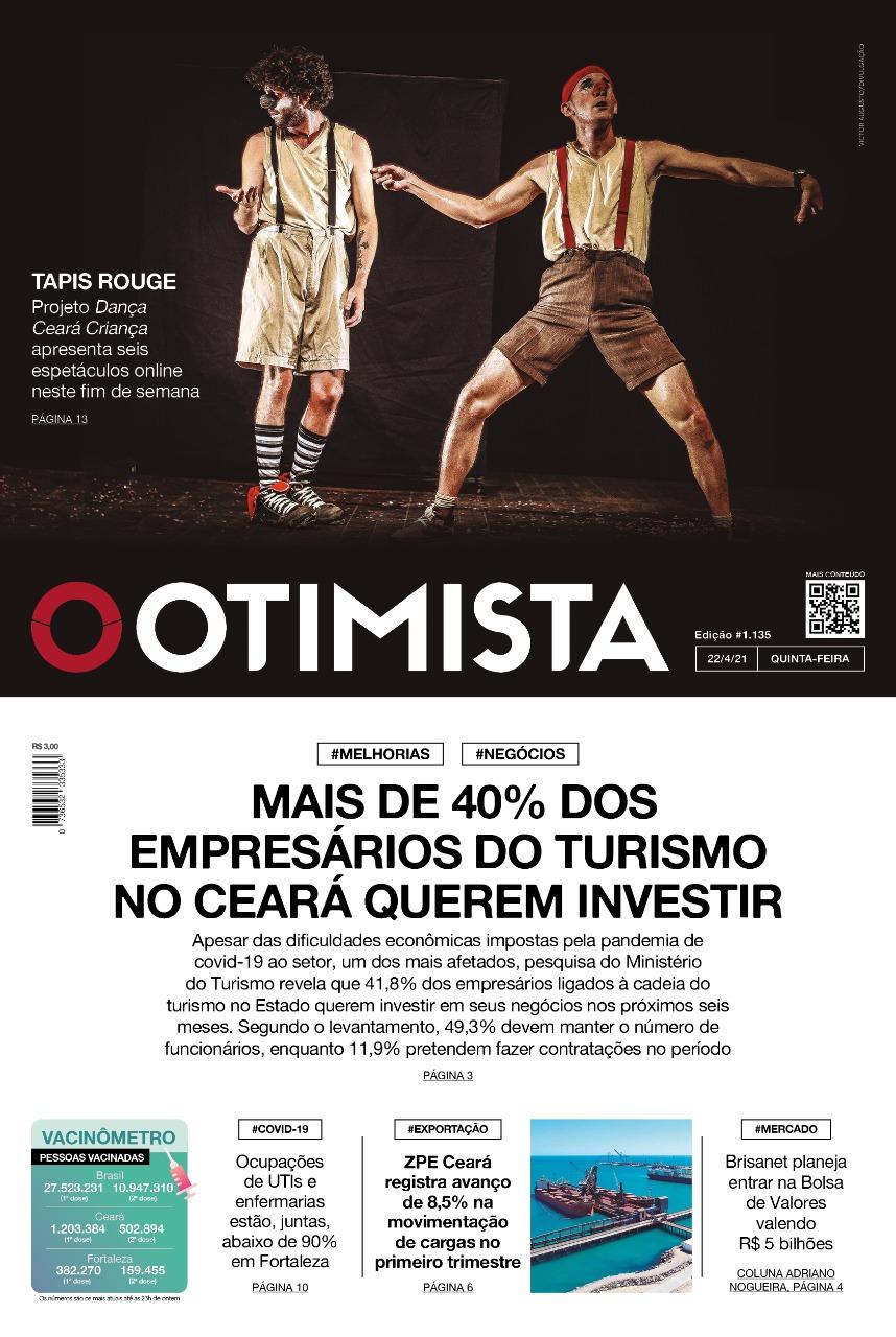 O Otimista - Edição impressa de 22/04/2021