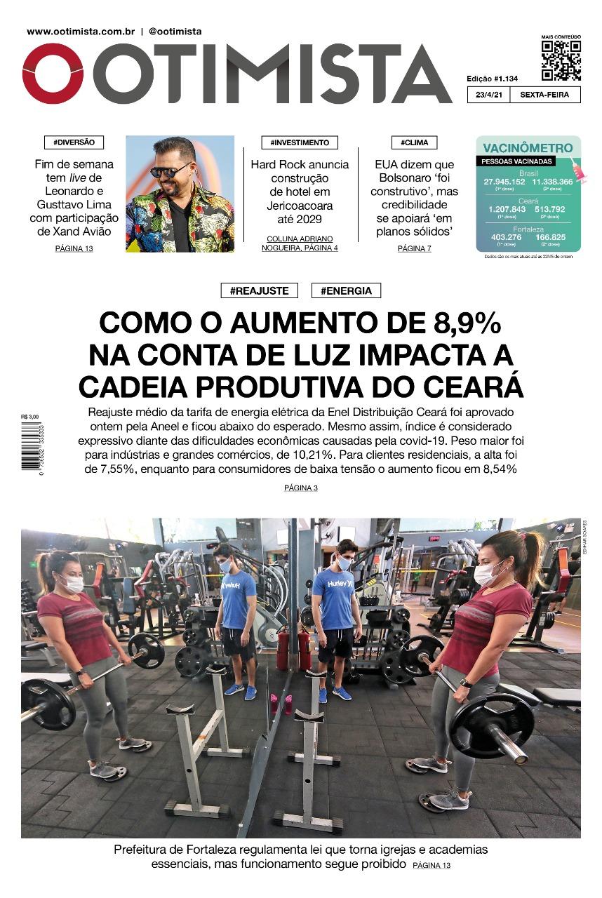 O Otimista - Edição impressa de 23/04/2021
