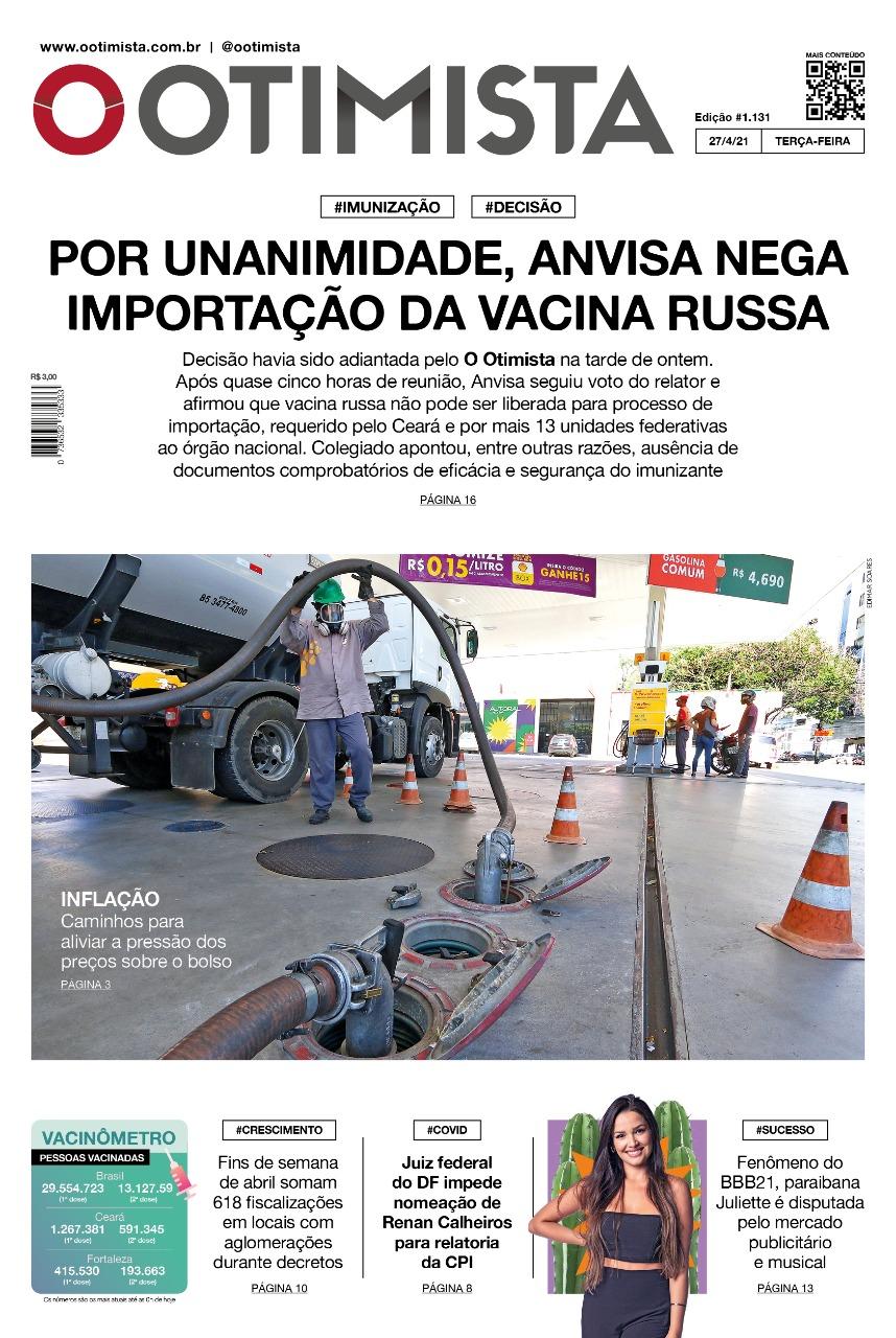 O Otimista - Edição impressa de 27/04/2021