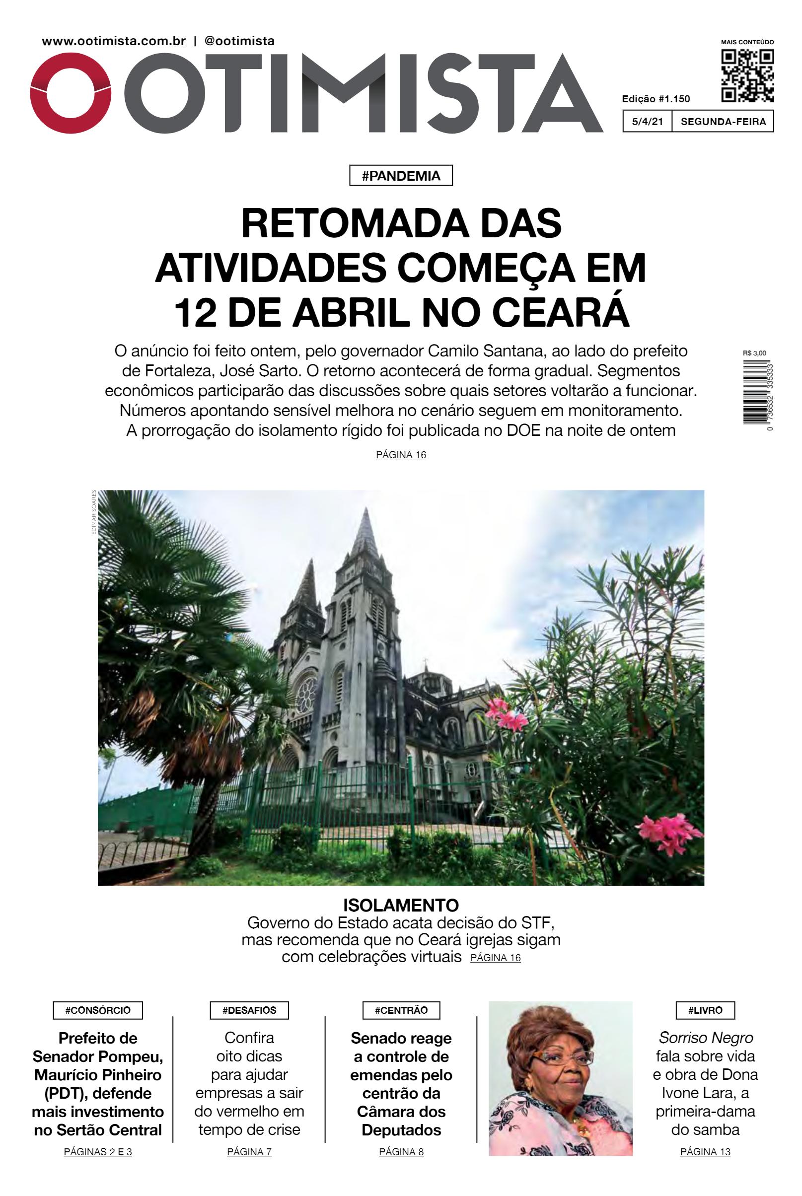 O Otimista - edição impressa de 5/4/2021