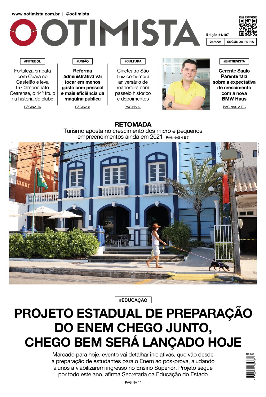 O Otimista - edição impressa de 24/5/2021
