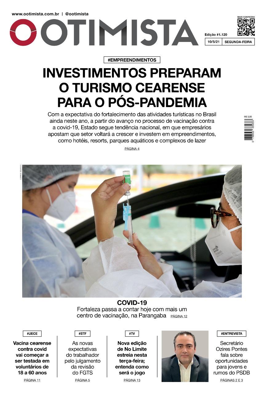 O Otimista - edição impressa de 10/05/2021