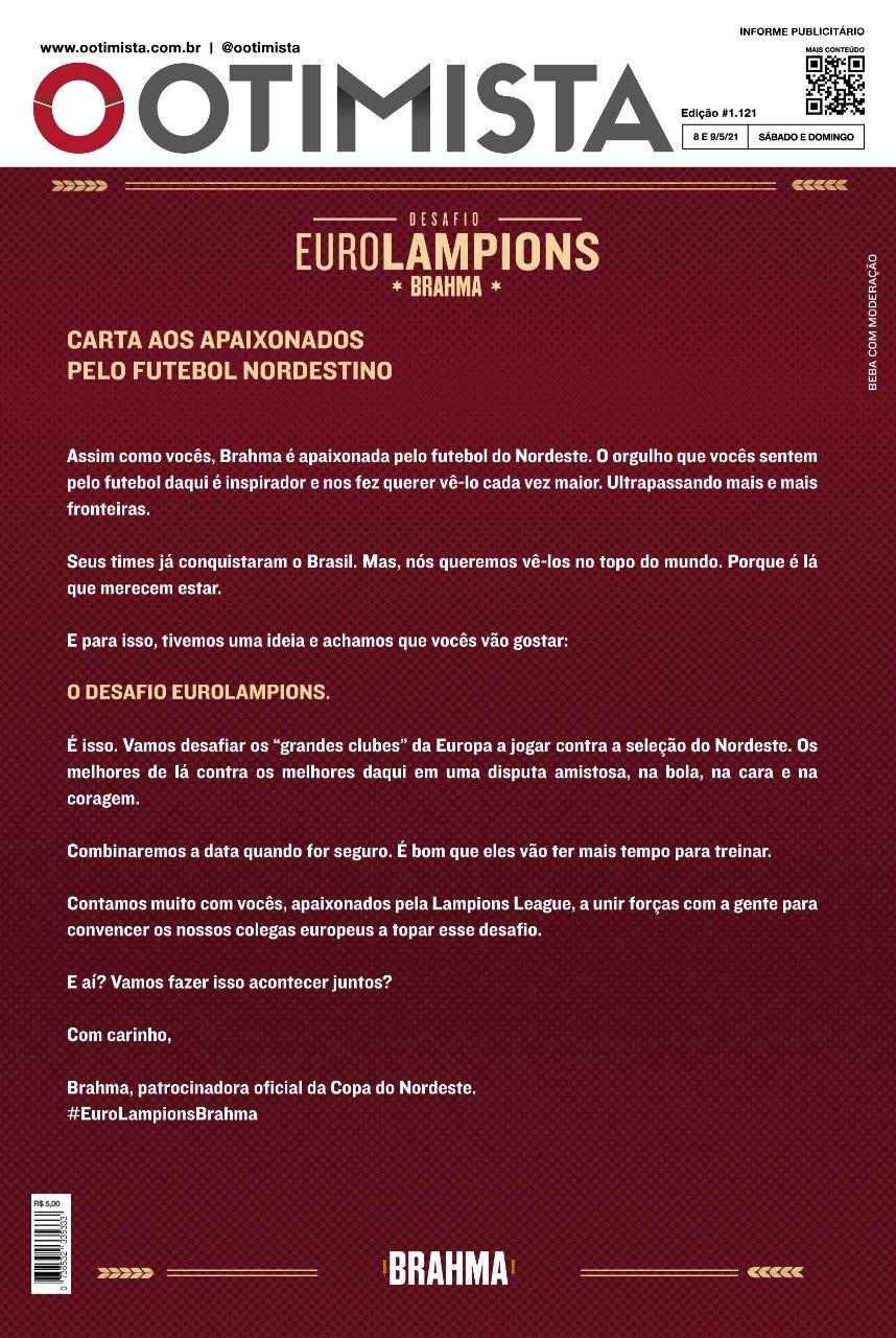 O Otimista - Edição impressa de 08 e 09/05/2021