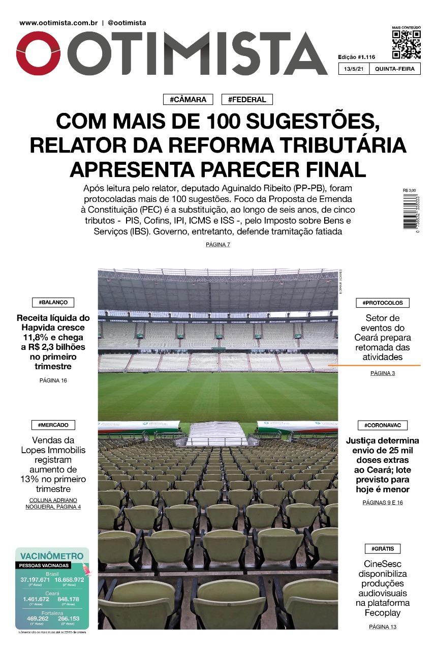O Otimista - Edição impressa de 13/05/2021
