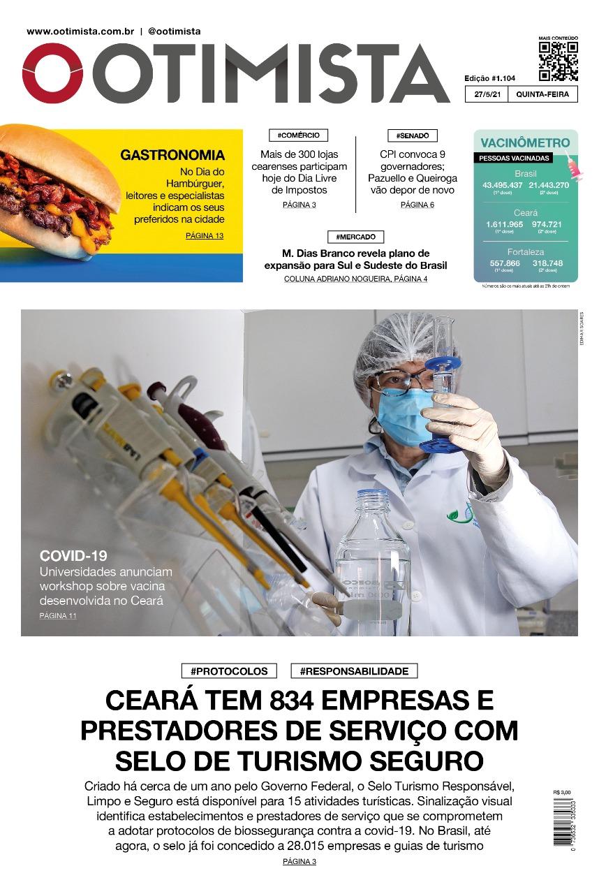 O Otimista - Edição impressa de 27/05/2021