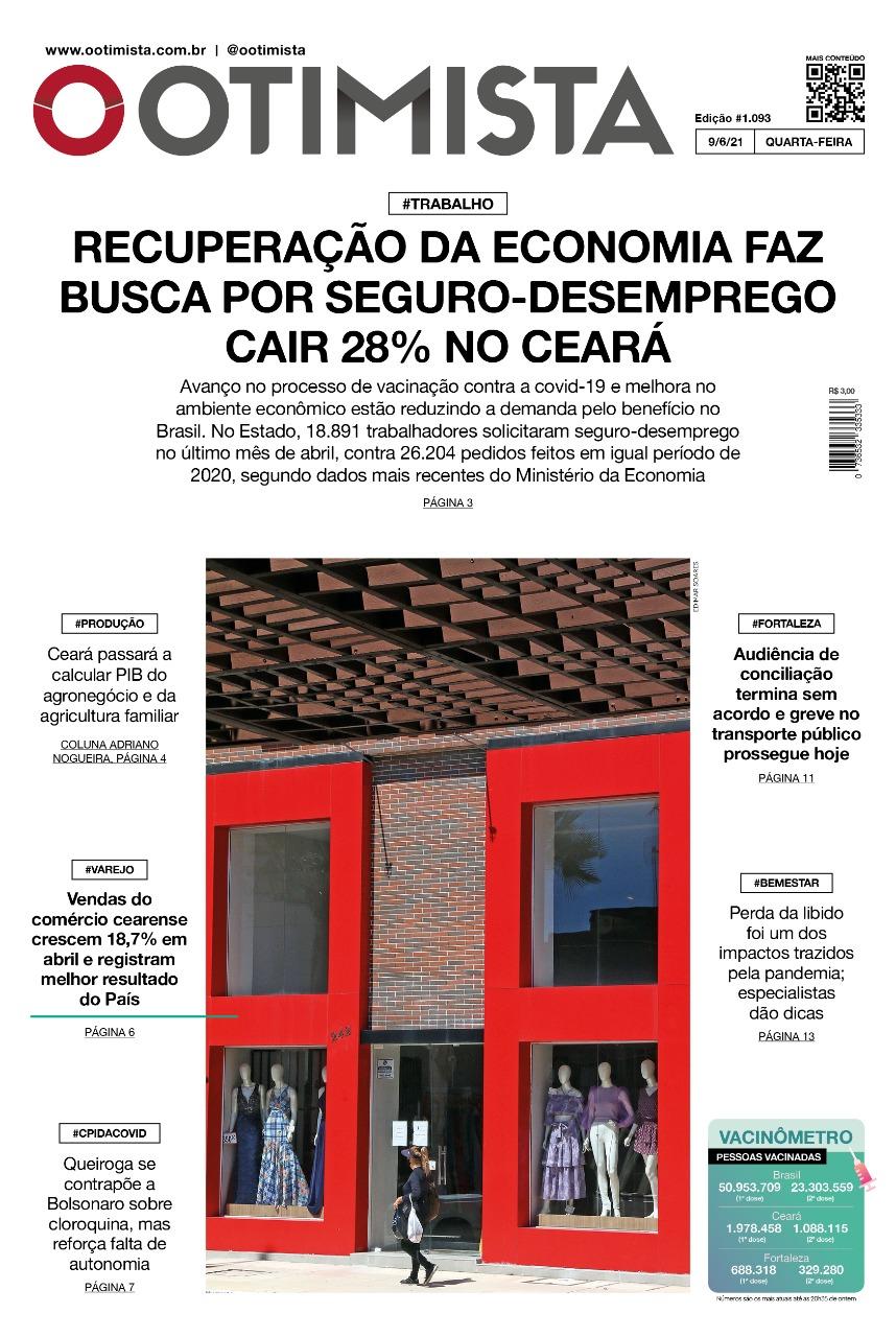 O Otimista - Edição impressa de 09/06/2021