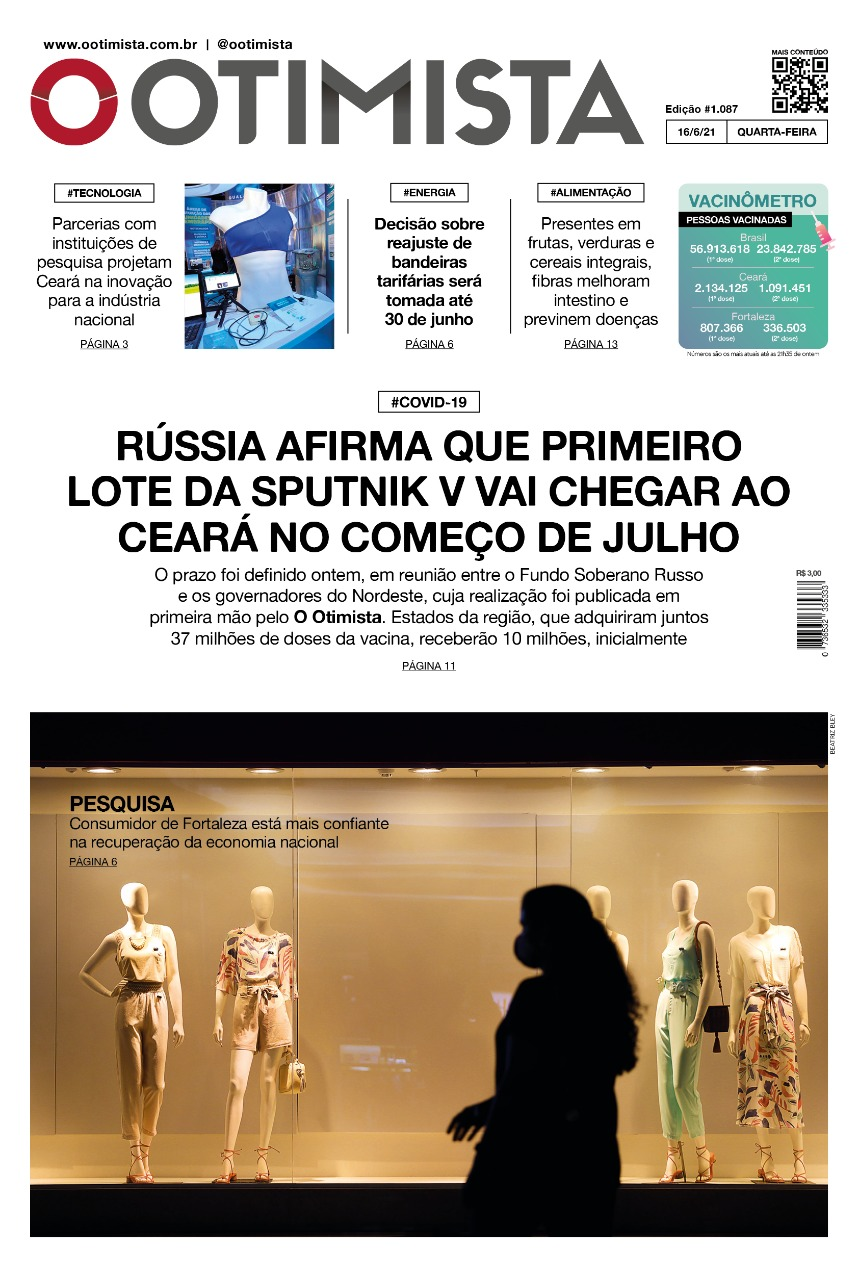 O Otimista - Edição impressa de 16/06/2021