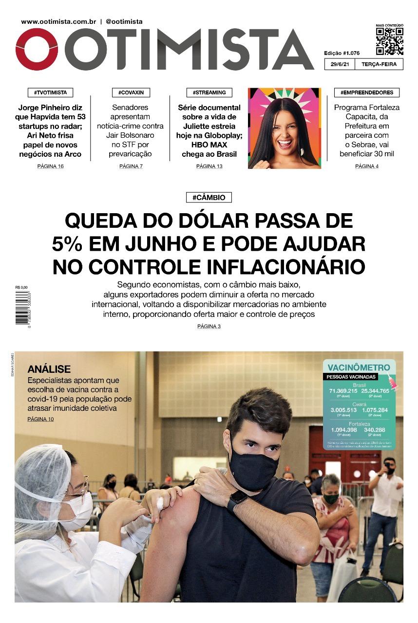 O Otimista – edição impressa de 29/06/2021