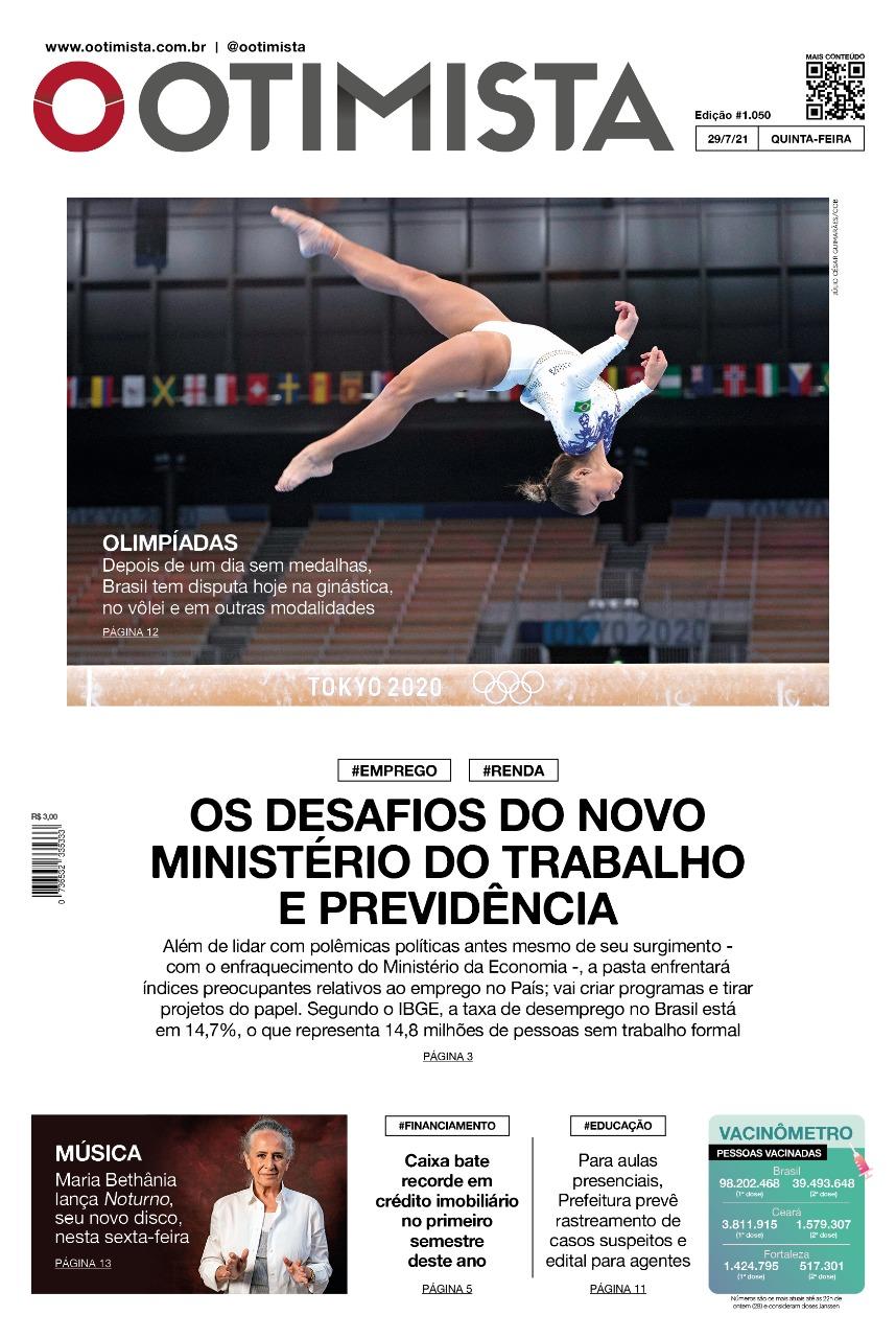 O Otimista – Edição impressa de 29/07/2021