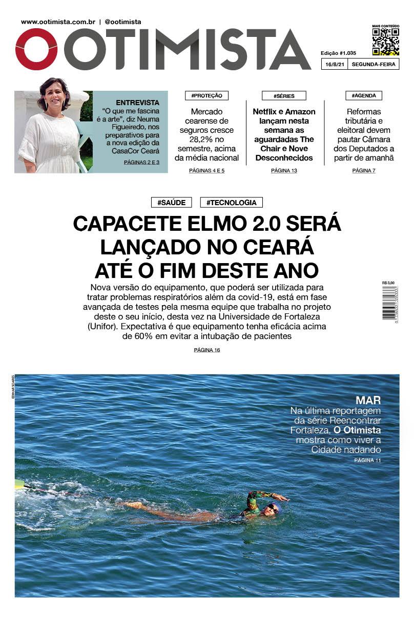 O Otimista - edição impressa 16/8/2021