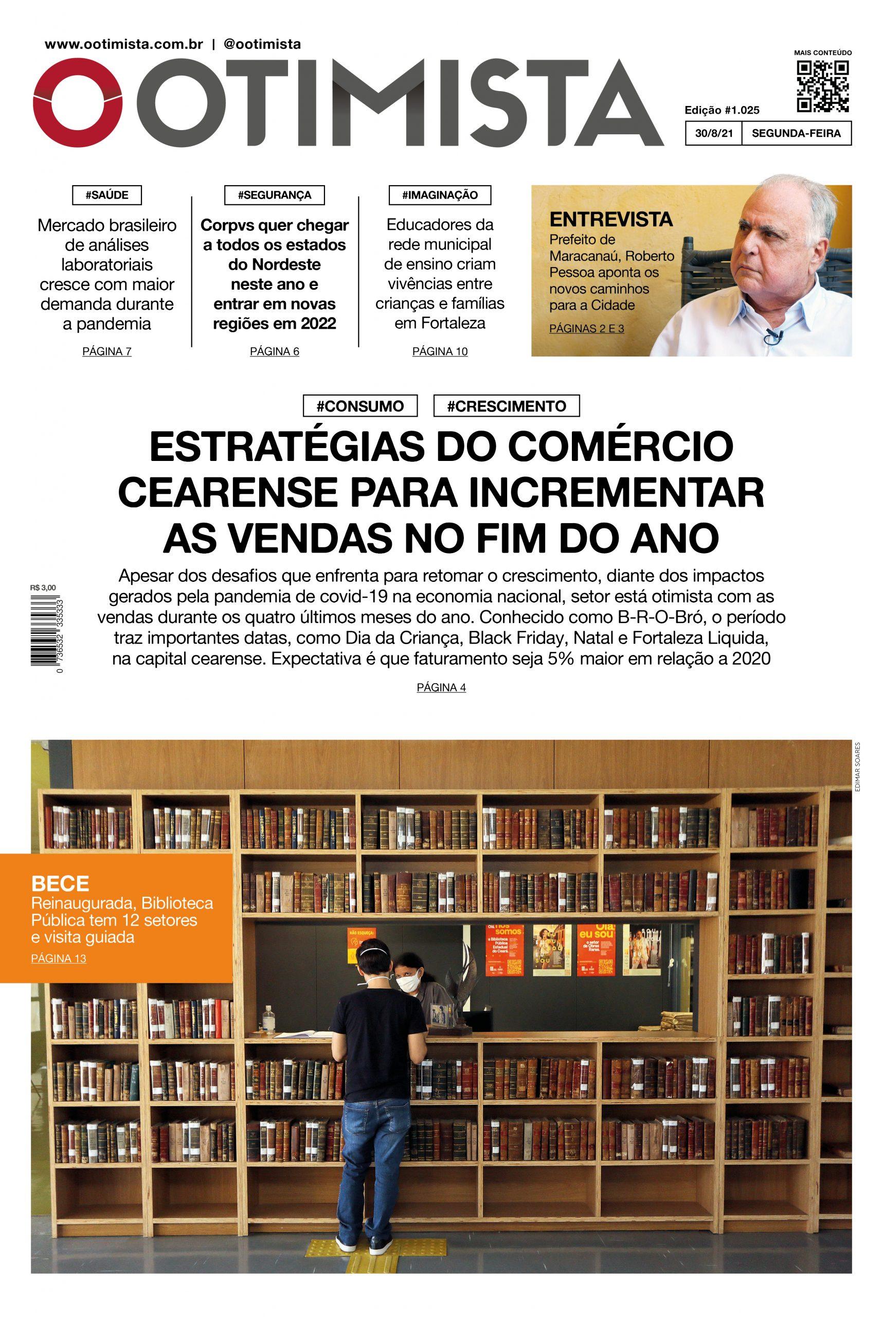 O Otimista - Edição impressa de 30/8/2021