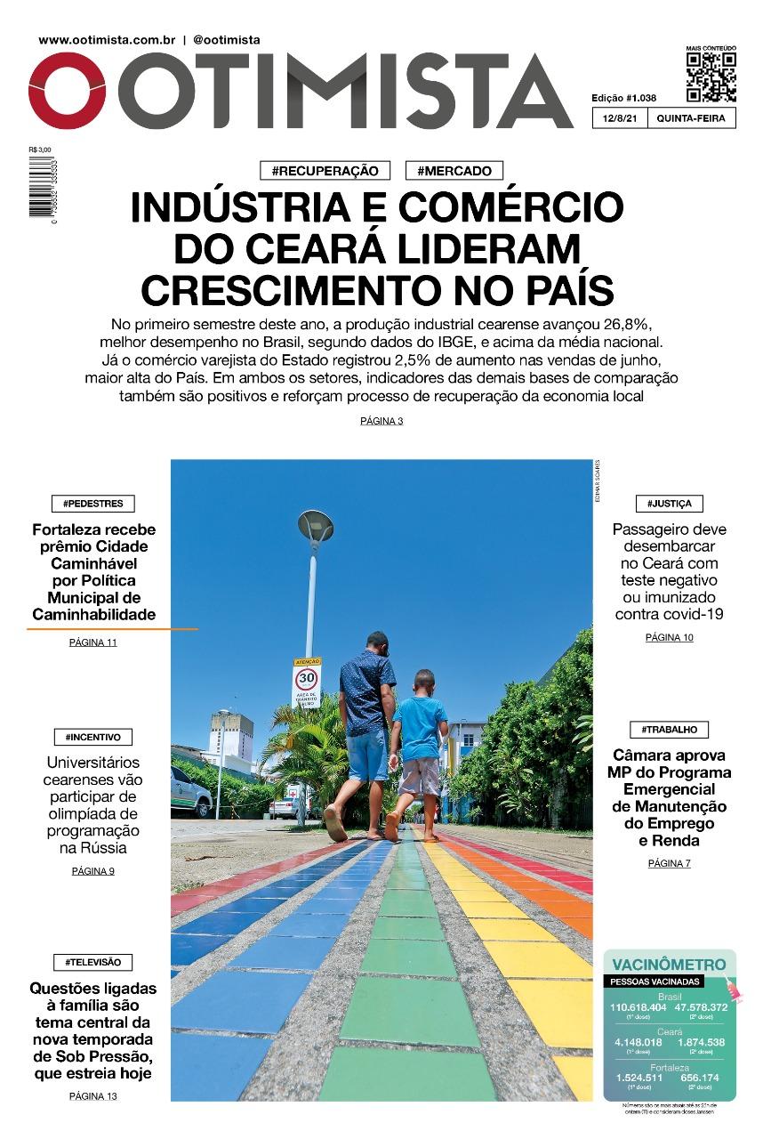 O Otimista – Edição impressa de 12/08/2021