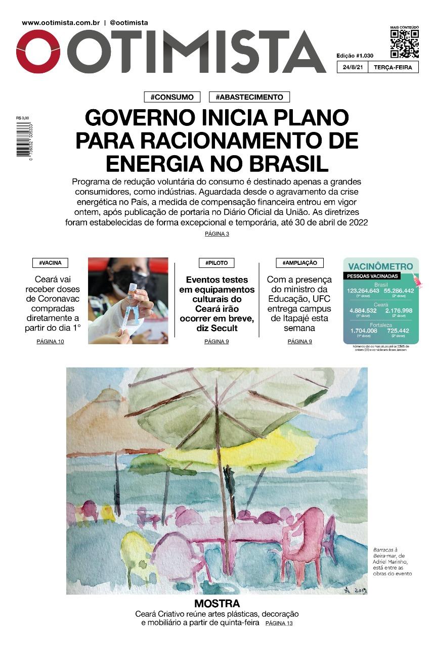 O Otimista - Edição impressa de 24/08/2021