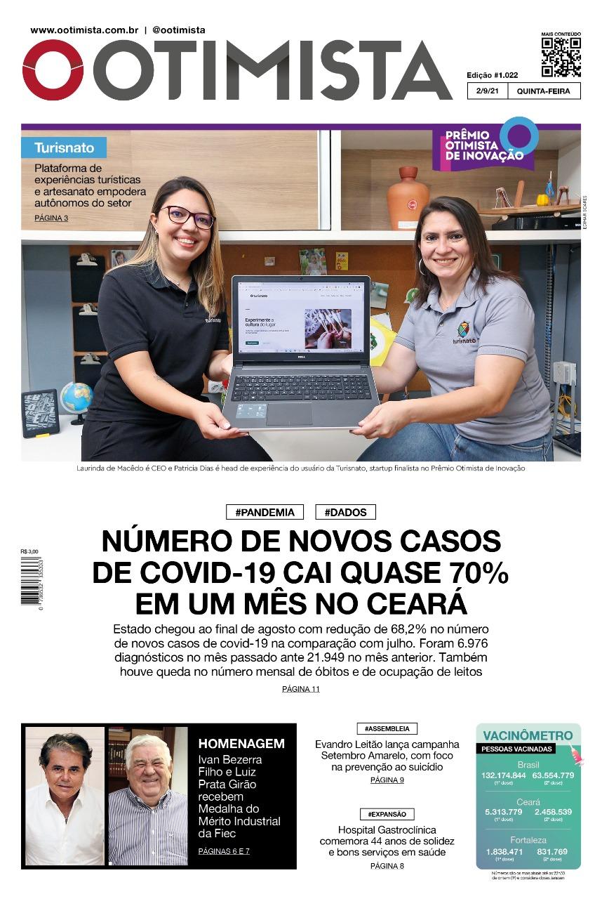O Otimista - edição impressa de 02/09/2021