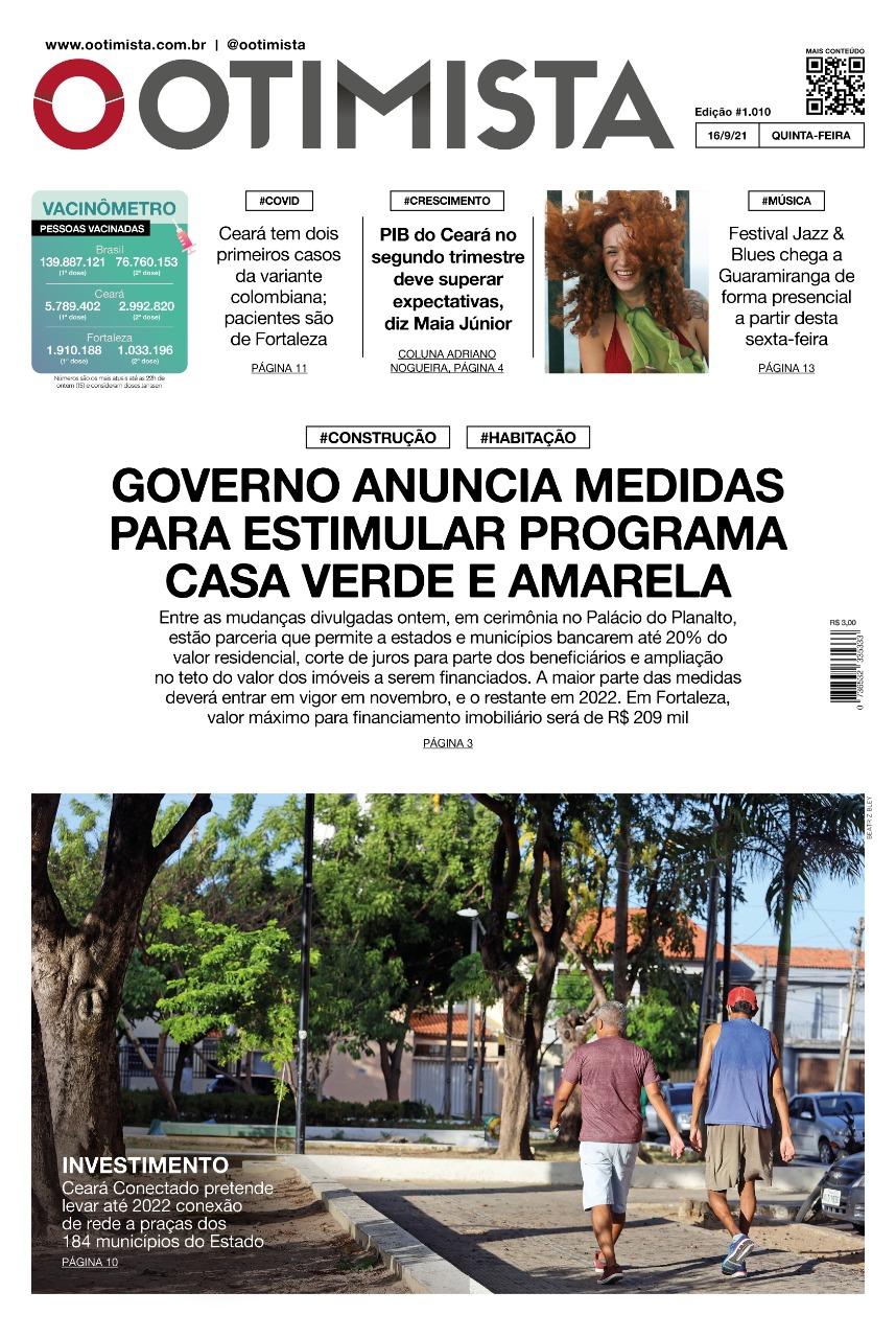 O Otimista – Edição impressa de 16/09/2021