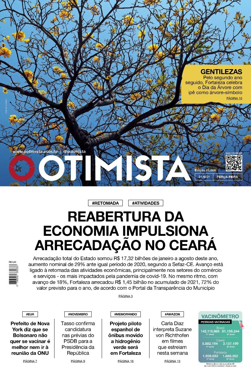 O Otimista - Edição impressa de 21/09/2021