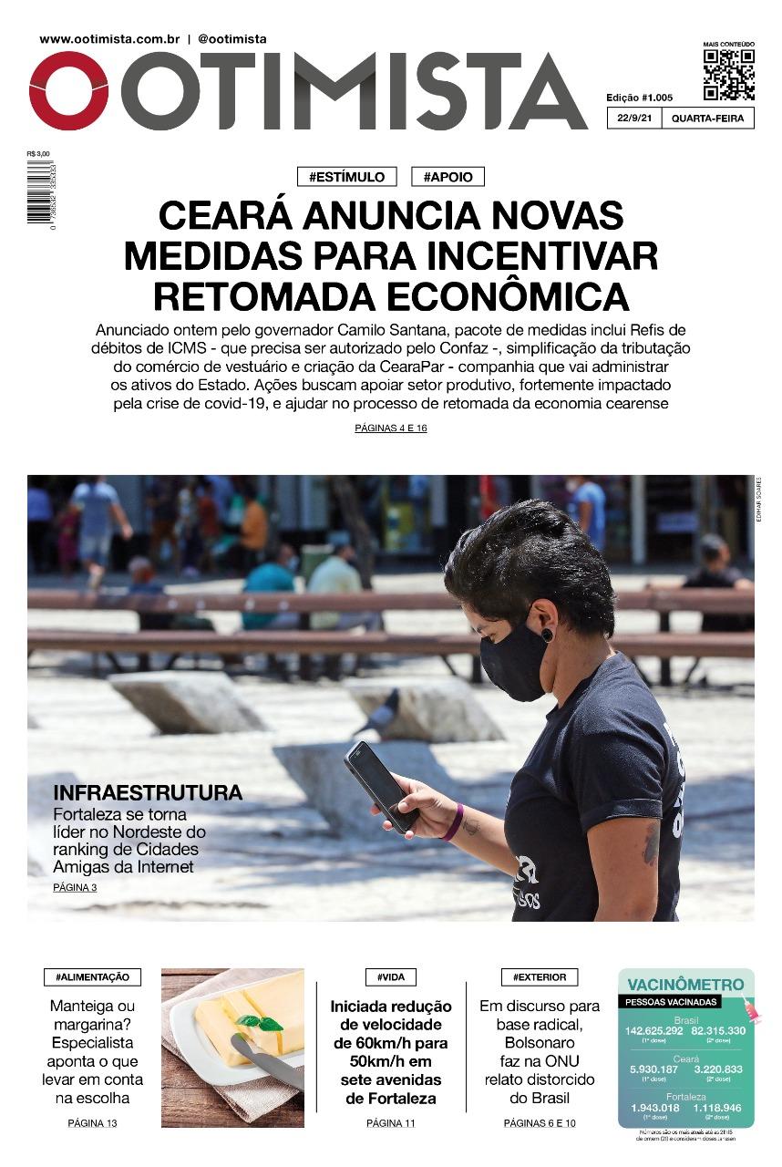 O Otimista – Edição impressa de 22/09/2021