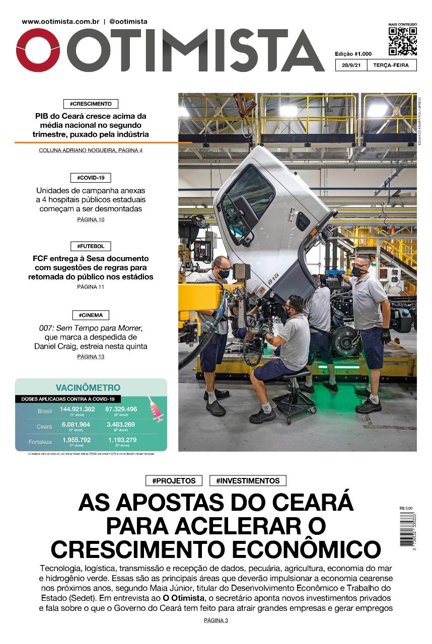 O Otimista - Edição impressa de 28/09/2021