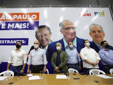 Encontro com Alckmin, França, Kassab e Skaf tem gritos de 'tchau, Doria' e críticas ao governador