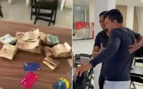 Garçom encontra bolsa com R$ 240 mil e devolve a cliente em Sergipe: