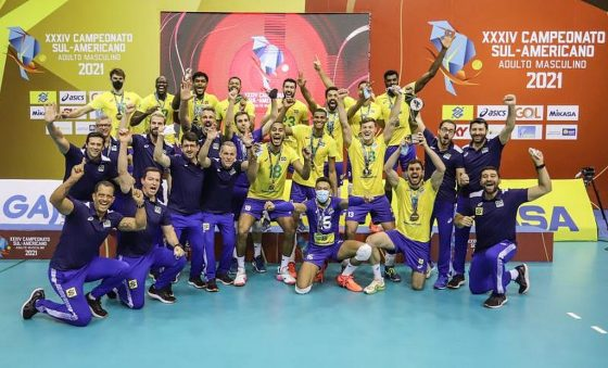 Brasil vence a Argentina e conquista 33º título Sul-americano de vôlei