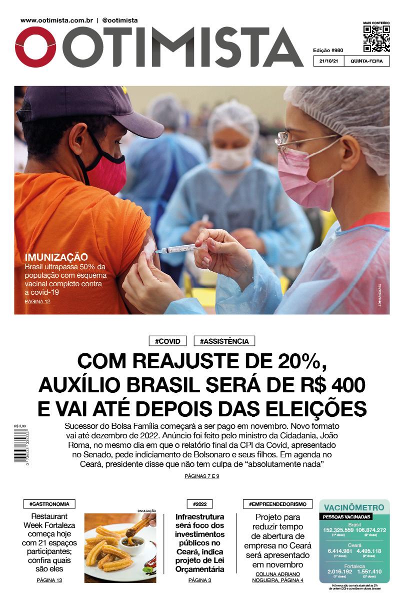 O Otimista – Edição impressa de 21/10/2021